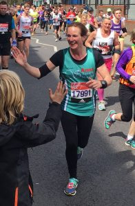 Anna - London Marathon High Five!