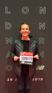 Anna with her London marathon medal